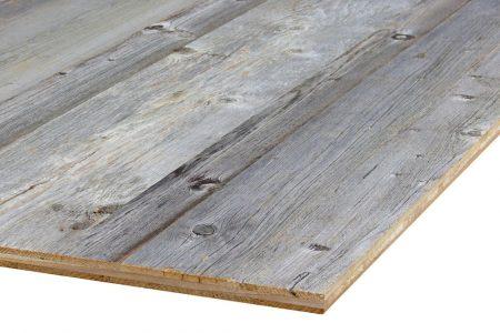 3-Schicht Platte aus original altholz mit sonnenverbrannte Oberfläche grau