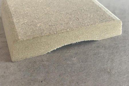 1. Chambrant Trapezium MDF onbehandeld 12x68 mm